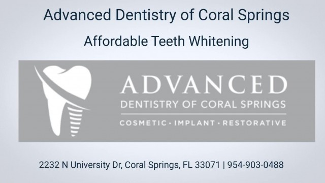 Affordable Teeth Whitening Treatment At Advanced Dentistry of Coral Springs FL