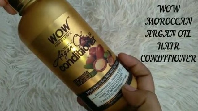 WOW Moroccan Argan Oil Hair Conditioner Review in Hindi   conditioner for Dry Hair #peoductreview