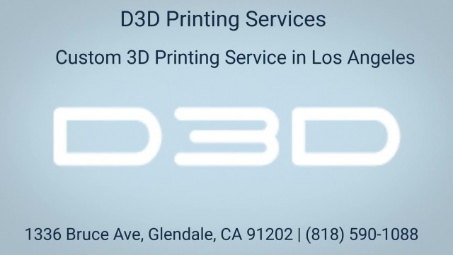 Affordable D3D Printing Services in Los Angeles