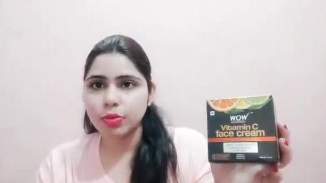 WOW Vitamin C cream use day and night #glowingskin# #removedarkspot# #review#