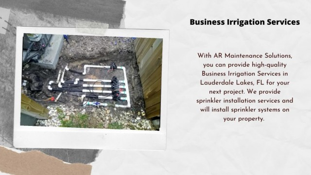 Business Irrigation Services in Lauderdale Lakes, FL