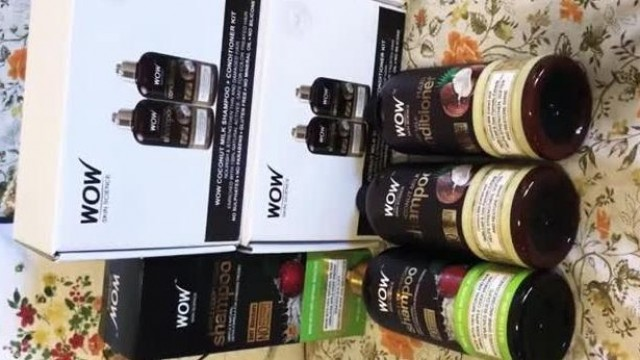 Wow Skin Science Coconut Milk Shampoo + Coconut Milk Conditioner Unboxing Wow Skin Science
