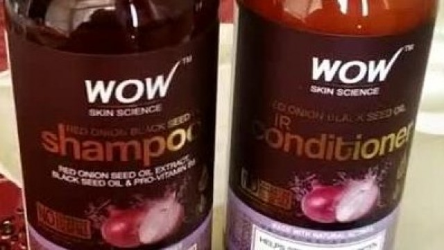 WOW SkinScience onion Shampoo & Conditioner With Red Onion Seed Oil Extract, Black Seed oil #Shorts