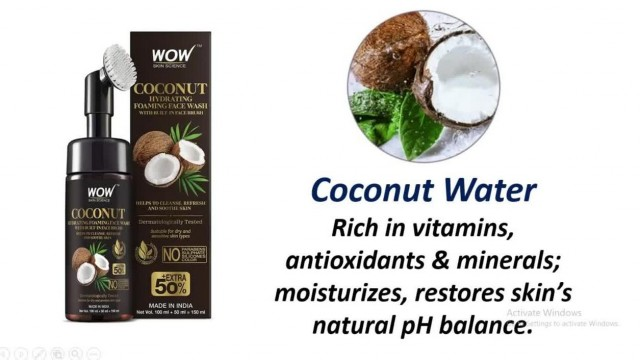 WOW Skin Science Coconut Hydrating Foaming Face Wash With Built-In Face Brush A to Z Online Product